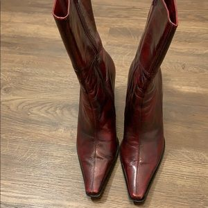 Kenneth Cole Burgundy Patina Boots size 7